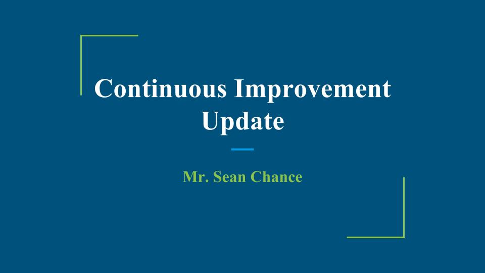 Continuous Improvement Update (1)